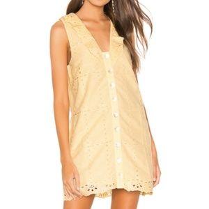 Tularosa Este Dress Medium Butter Yellow NEW